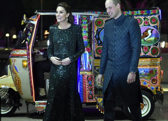 ce William and Kate arrived at Pakistan Monument in Islamabad in Rickshaw
