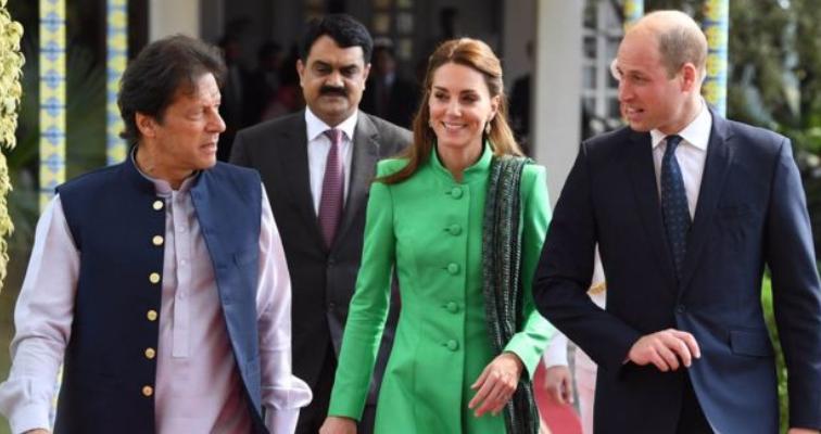 Prince William and Princess Kate with PM Imran Khan