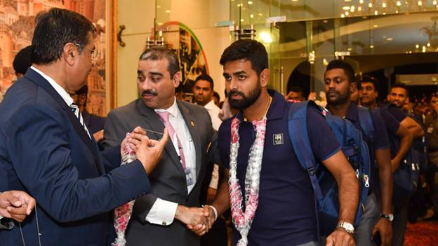 Visit of srilankan team at karachi