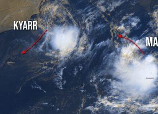Maha Cyclone footage - Source: cycloneoi