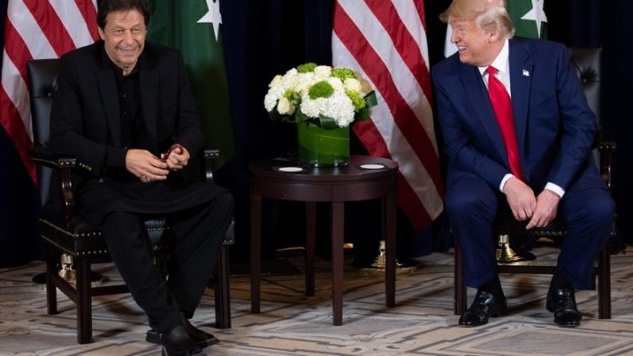 PM Imran with President Trump