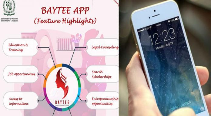 GOVT ESTABLISH 'BAYTEE APP': Entitling women by setting up 'BAYTEE' app.