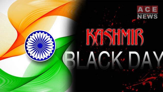 Source: acenews.pk Indian republic day as 'black day'.