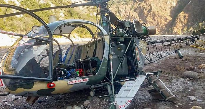 SOURCE: ARY NEWS: An Indian military Cheetah helicopter smashed in occupied Jammu and Kashmir. SOURCE: ARY NEWS