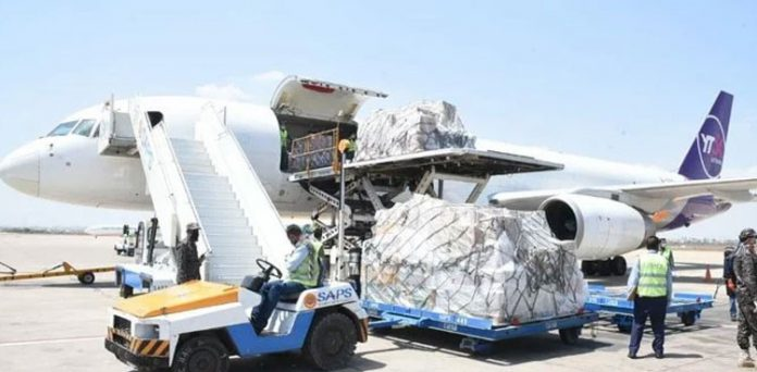 Another special plane of China carrying medical supplies regarding Coronavirus pandemic.