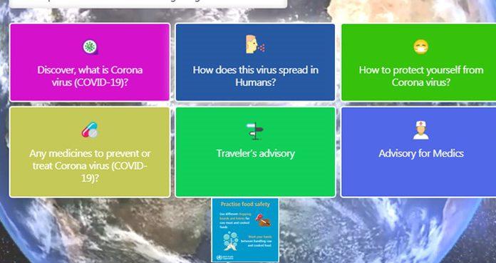 Government starts coronavirus awareness web portal.