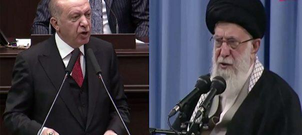 PM Imran Khan thanked Erdogan and Ayatollah for raising the voice.