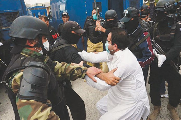 Doctors protest against a lack of protective gear for doctors, paramedical staff.