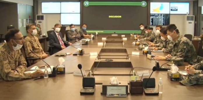 A 10-member Chinese military medical team visited 'NCOC.'