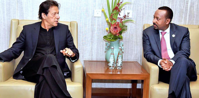 PM Imran telephoned his Ethiopian counterpart Abiy Ahmed to discuss about the global COVID-19.