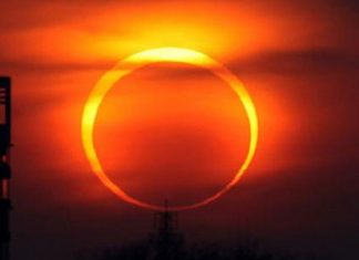 The solar eclipse will be visible in Pakistan tomorrow.
