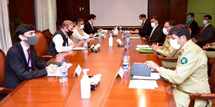 Pakistan raising the issue of Indian military killings and current human rights violations in Kashmir. FM.