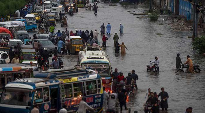 Heavy rainfall worsened the situation in Karachi.