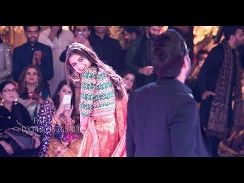 Hira Mani and Yasir Hussain wonderful dance performance At A Wedding.