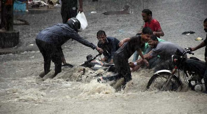Karachi after rain caused destruction in the city.