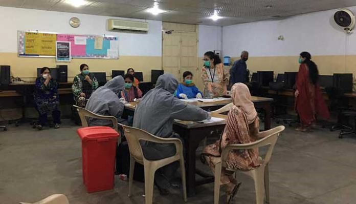 13% positive cases among the school staff in private schools found in Karachi.