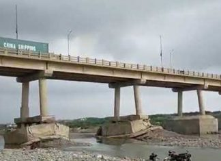 The Hub river bridge's condition poses a serious threat to the public.