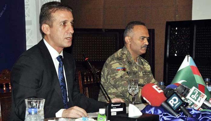 Ambassador of Azerbaijan addressing situation of 'Armenian Military Aggression and attacks against Azerbaijan'.