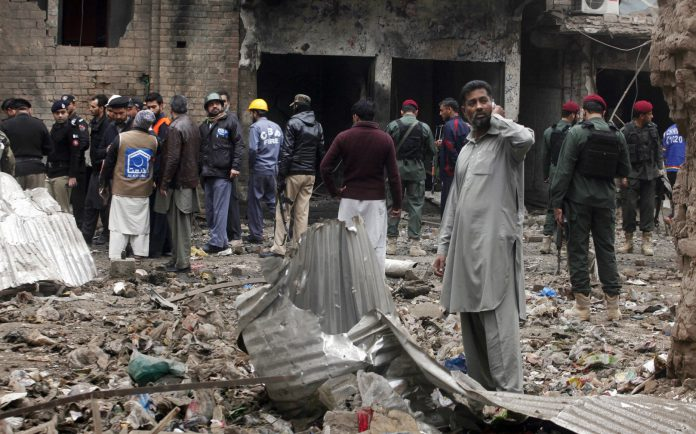 In Peshawar bomb attack, time-bomb was planted inside a bag.