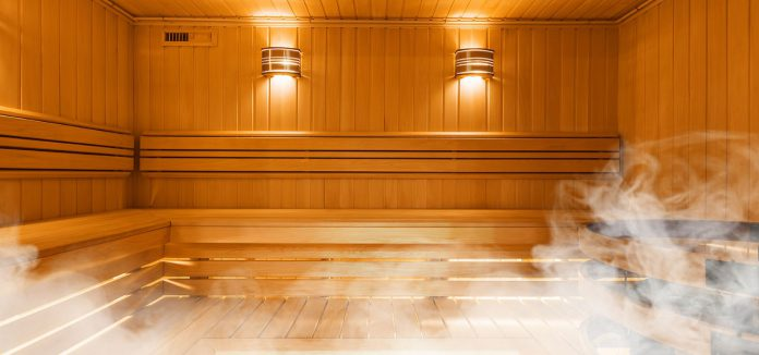 Sauna bath is beneficial for our health and improves blood circulation.