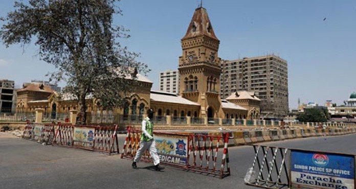 Sindh government imposed a mini lockdown in Karachi to control coronavirus.