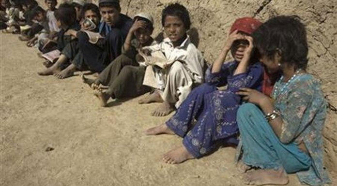 Children put at risk for carrying out smuggling activities at the Pakistan-Afghan border at Torkham.