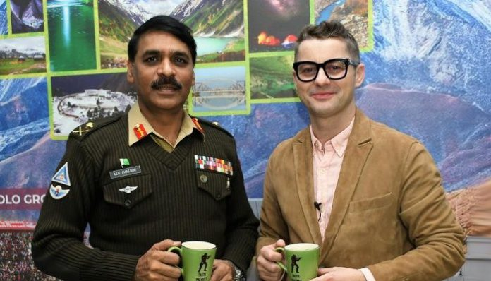 Famous singer Akcent congratulated Pakistan Army Asif Ghafoor for his promotion to the rank of Lt General.