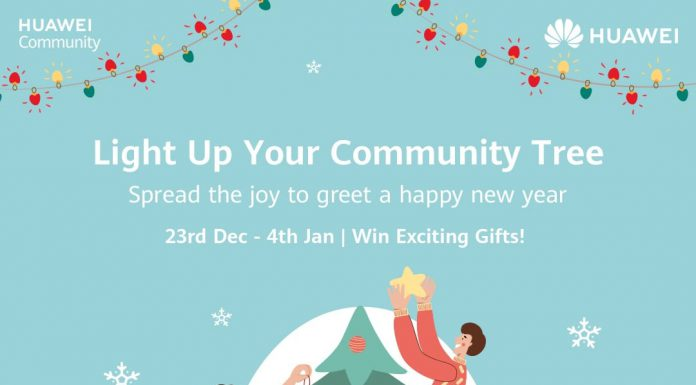 Huawei is inspiring everybody on a digital platform 'Light up Your Community Tree'.