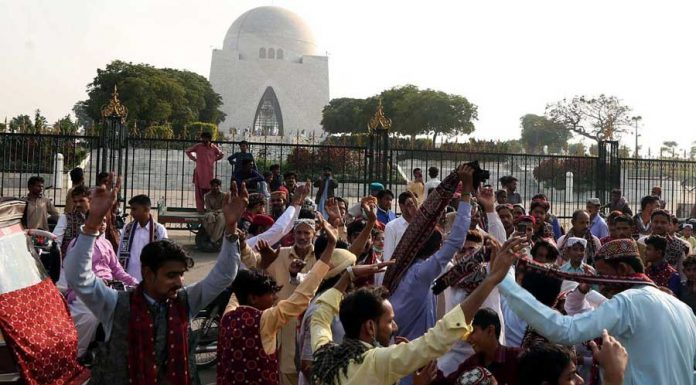 Individuals celebrated Sindhi Cutural Day across province.