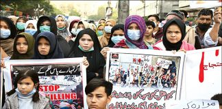 Hazara continuing sit-Ins and protest demanding for justice