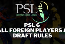 PSL 2021 Draft has the biggest Foreign Players