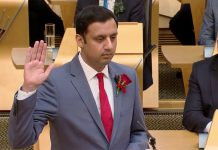 Anas Sarwar, The first Muslim, declared as a leader of Scottish Labour.