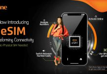 Ufone Network launches its eSIM first time in Pakistan