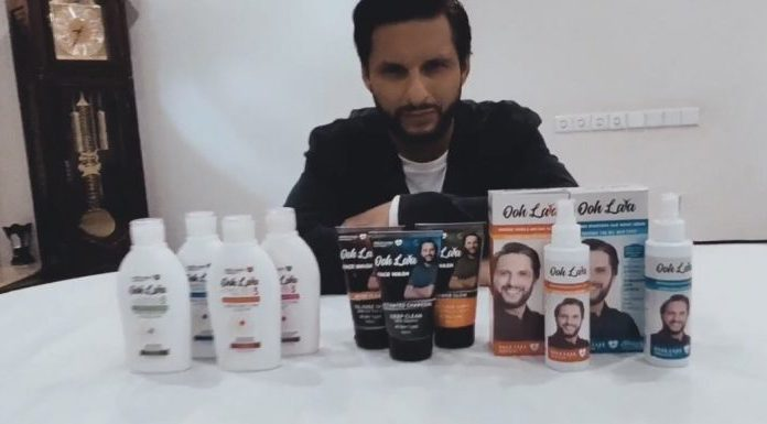 Shahid Afridi is launching his skincare brand 'Ooh Lala.'