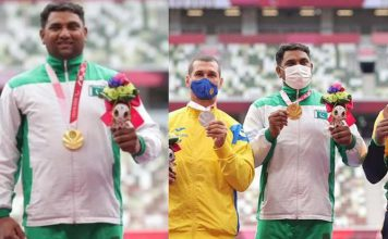 Haider Ali achieves for Pakistan gold medal at the Tokyo Paralympics.