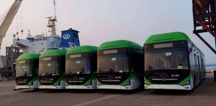 New Green Line BRT Buses to Reach Karachi Tonight.